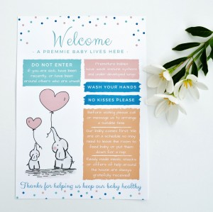 FREE DOWNLOAD! Welcome Front Door Sign