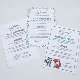 Printable 'Welcome' Door Signs