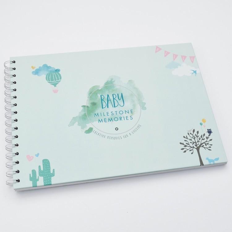 baby milestone memory book designed for premature babies