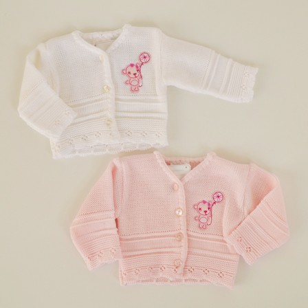 Knit Cardigan, Blue or Pink